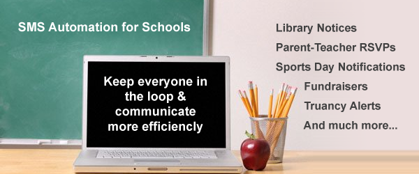 sms automation for schools